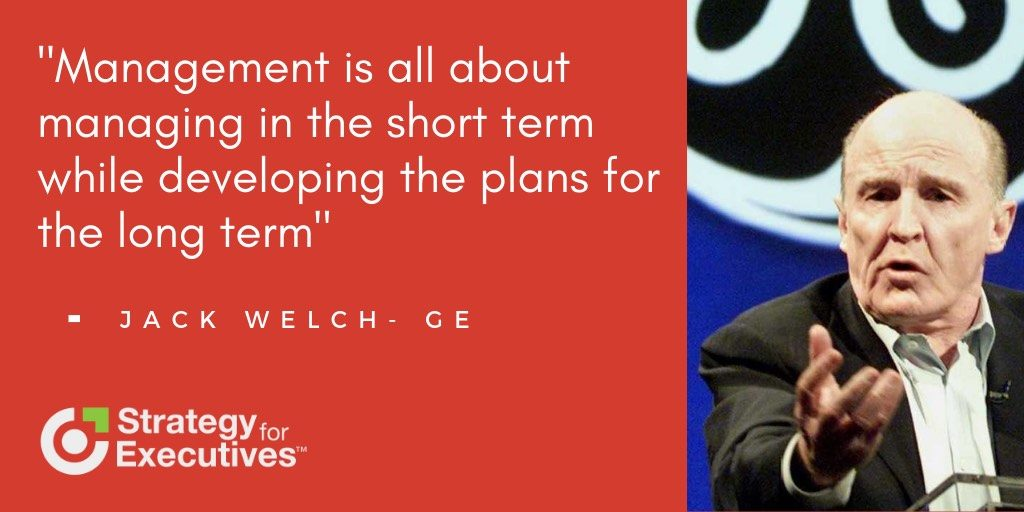 Jack Welch quote about management.
