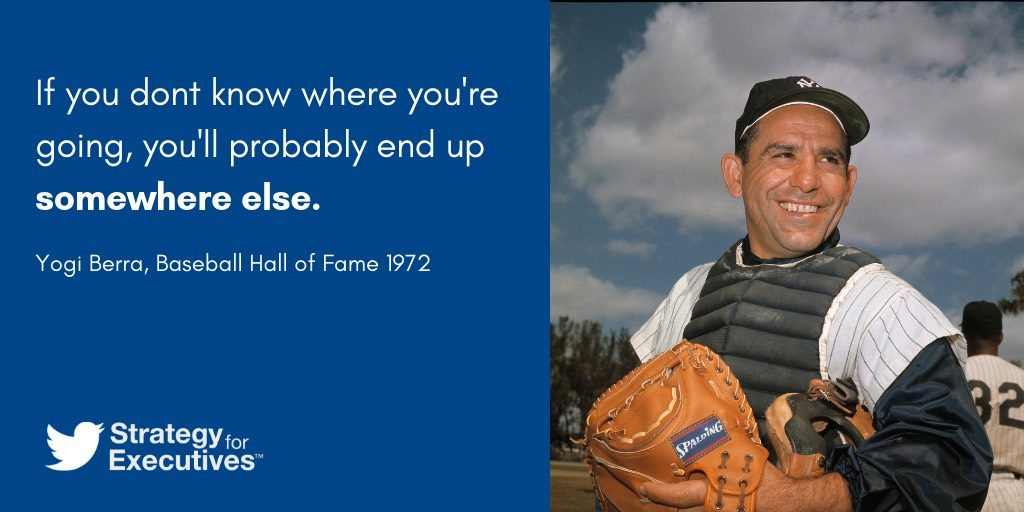 Business Strategy Quote by Yogi Berra.