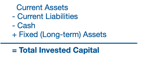 Total Invested Capital formula